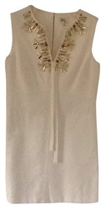 MILLY short dress Light beige on Tradesy
