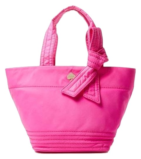Kate Spade Bow Signature Lightweight Classy Logo Tote in Pink