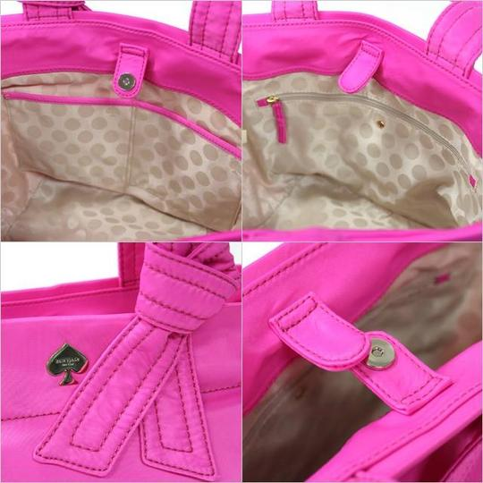 Kate Spade Bow Signature Lightweight Tote in Pink