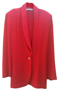 St. John St Gold Knit Red Blazer