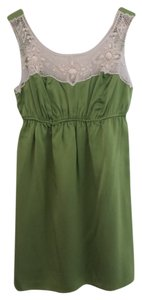 Voom by Joy Han short dress Chartreuse Empire Waist Silk Embellished Night Out Date Night on Tradesy