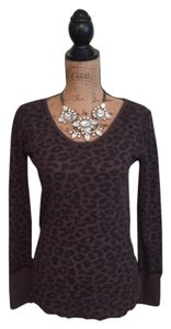 Free People T Shirt Purple leopard