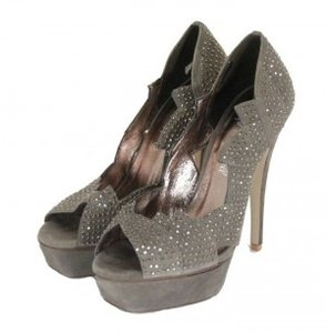 Jeffrey Campbell Platform Grey Pumps