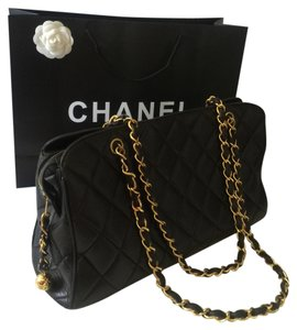 Chanel Quilted Double Chain Shoulder Bag