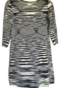 M Missoni short dress Blue & Cream Wool 3/4 Sleeve Weekend Wear Great Fall Fashion on Tradesy