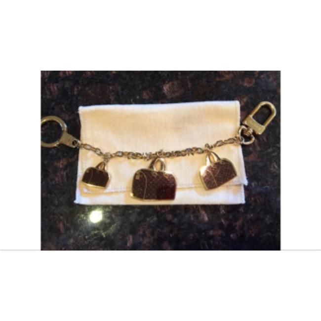 Item - Gold Burgundy Speedy Iconic Bag Charm