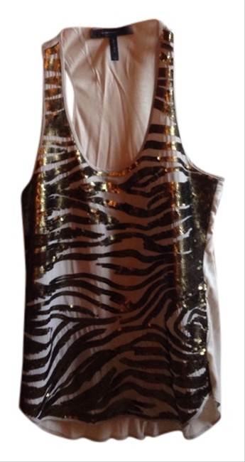 Preload https://item1.tradesy.com/images/bcbgmaxazria-tan-and-gold-night-out-top-size-0-xs-5903380-0-0.jpg?width=400&height=650