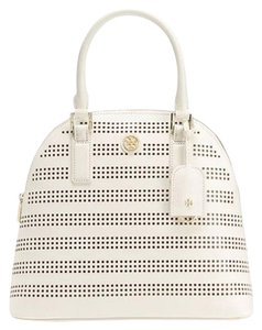 Tory Burch Dome White Satchel in Birch / Luggage