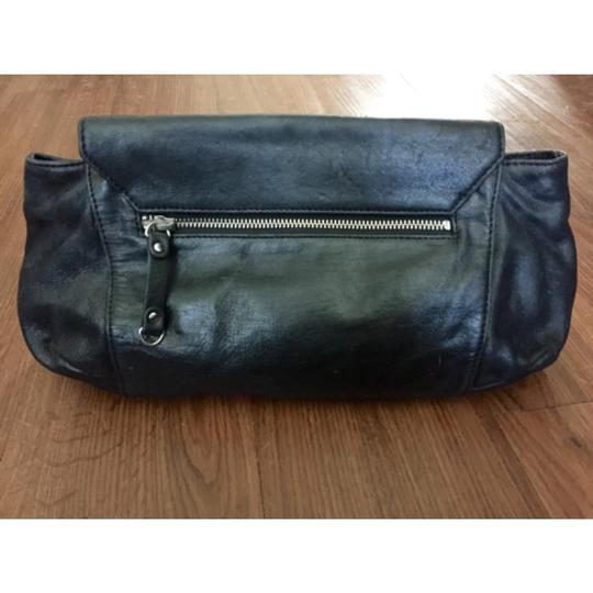 L.A.M.B. Leather Silver Hardware Party Night Out Lamb Black Clutch