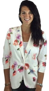 Fifteen Twenty Red 23 Jacket Floral White Blazer