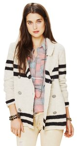 Free People Striped Casual Natural Jacket