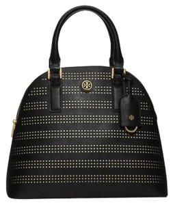 Tory Burch Leather Saffiano 51149743 888736132437 Hand Robinson Dome Tb Robinson Perf Nwt New With Tags Satchel in Black