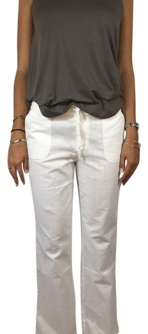 Tribal Beach Beach Style Pull On Sportswear Relaxed Pants White