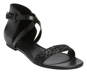 Cole Haan Leather Sparkle Black Sandals