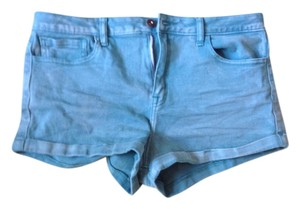 Forever 21 Cuffed Shorts Turquoise
