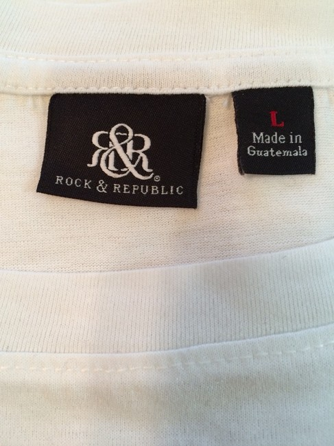 Rock & Republic T Shirt White W/black
