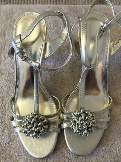 Calvin Klein Gold Metallic Sandals Image 1