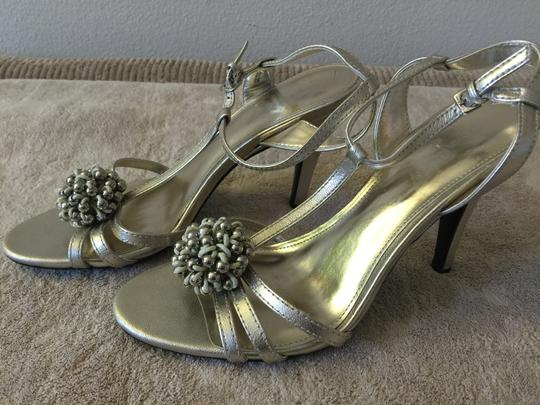 Calvin Klein Gold Metallic Sandals Image 2