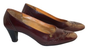 Etienne Aigner Dress Office Classic Retro 80s Burgundy Red Pumps