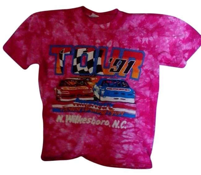 Preload https://img-static.tradesy.com/item/5905495/pink-and-red-tie-die-made-in-usa-tee-shirt-size-12-l-0-0-650-650.jpg