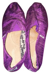 TOMS Metallic Purple Flats