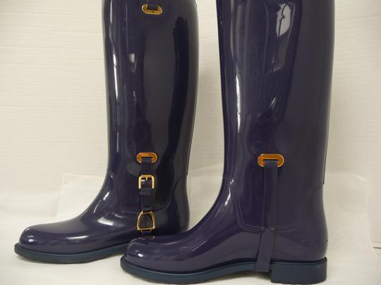 Ralph Lauren Rubber Electric Blue Boots
