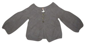 Free People Wool Grey Knitted Knit charcoal Jacket