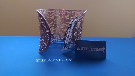 Steeltime Stainless Steel Wide Cuff Rose Gold Bangle (NWT)