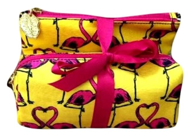 """Item - Yellow/Pink """"Luv Travel 2pc. Cosmetic Bag"""
