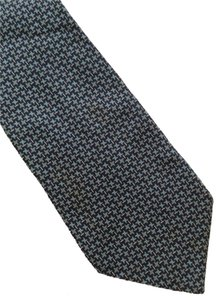 Dior Christian Dior Blue Mini Square Geometric 100% Silk Neck Tie