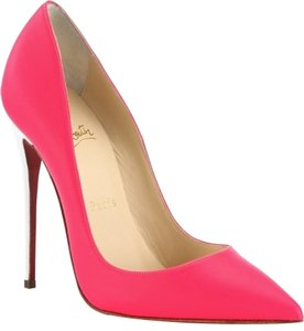 Christian Louboutin So Kate 120 Mm 35 5 Neon Pink, White Pumps