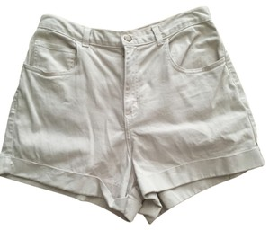 American Apparel Cuffed Shorts Tan