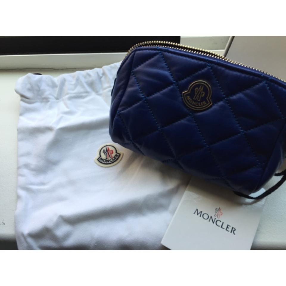 Moncler Blue Quilted Makeup Cosmetic Bag - Tradesy fb387e1e0ef12