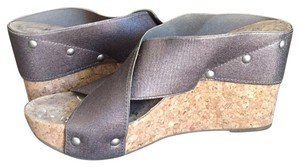Lucky Brand Bronze Wedges