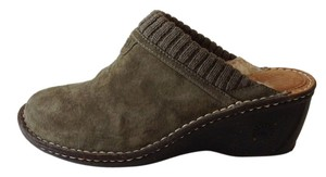 UGG Australia Suede Green Loden Green Mules