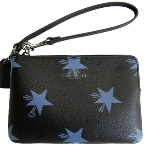 Coach Star Black Wristlet in Blue