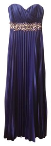 Sequin Hearts Pleated Long Jewel Satin Dress