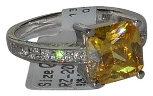 J Brand 925 Sterling Silver Citrine White Topaz Accents Ring
