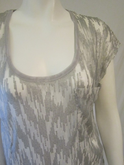 Kimchi Blue Sequined Top Silver