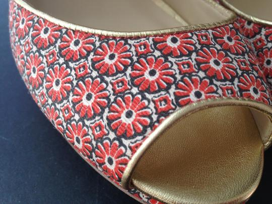 Coach Summer Floral Pink Mary Jane Peep Toe Pumps