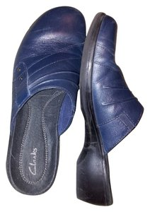 Clarks Navy Mules