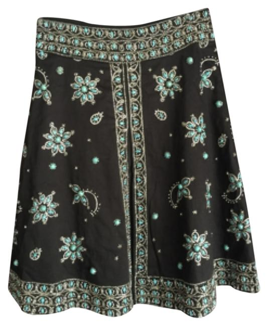 Item - Blac Turquoise and Silver Beaded Skirt Size 2 (XS, 26)