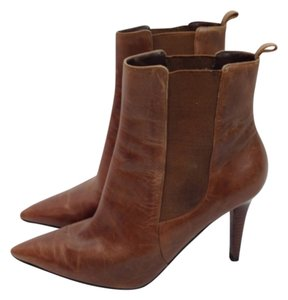 Ralph Lauren Ankle Hgh Heel Brown Boots