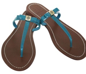 Tory Burch Sandals Turquoise Flats