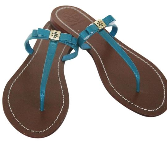 Tory Burch Sandals Thongs Turquoise Flats