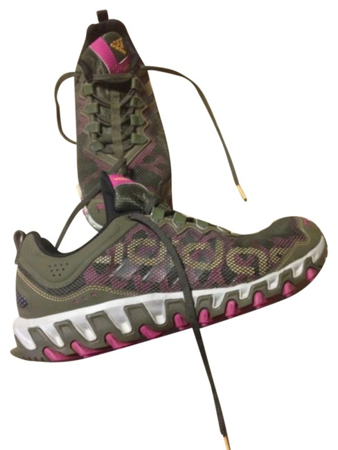 Item - Army Green and Pink Vigor Tr 4 Sneakers Size US 10 Regular (M, B)