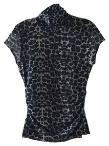 Kenneth Cole Top Black/Grey Leopard