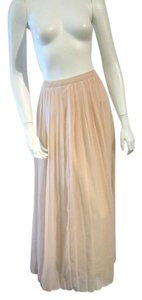 Petticoat Alley Pink Pleated Maxi Skirt Blush