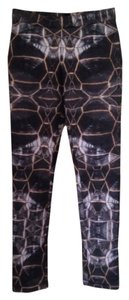 Cynthia Rowley Blue Grey Neoprene Legging Leggings