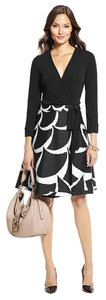 Diane von Furstenberg short dress Black White Prada Burberry on Tradesy